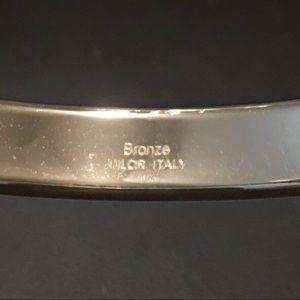 QVC Jewelry - Bronzo Italia Turquoise Bead Bangle Bracelet